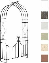 CLP Eisen-Rosenbogen VIOLA mit Eingangspforte | Torbogen mit stilvollen Verzierungen | Rankhilfe im Landhausstil | In verschiedenen Farben erhältlich Bronze
