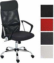 CLP ergonomischer Bürostuhl WASHINGTON V2 mit Armlehnen, belastbar bis 140 kg, Schreibtischstuhl mit Kunstleder- und Netzbezug, Chefsessel höhenverstellbar, in verschiedenen Farben Schwarz