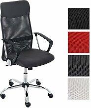 CLP ergonomischer Bürostuhl WASHINGTON V2 mit Armlehnen, belastbar bis 140 kg, Schreibtischstuhl mit Kunstleder- und Netzbezug, Chefsessel höhenverstellbar, in verschiedenen Farben Grau