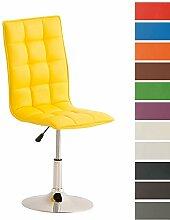 CLP Esszimmer-Stuhl PEKING, Lounge-Sessel modern, Sitzhöhe verstellbar 40-54 cm, Sitzfläche drehbar Gelb