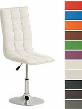 CLP Esszimmer-Stuhl PEKING, Lounge-Sessel modern, Sitzhöhe verstellbar 40-54 cm, Sitzfläche drehbar Weiß