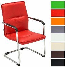 CLP Freischwinger-Stuhl mit Armlehne SEATTLE, Besucherstuhl, Konferenzstuhl gepolstert Ro