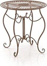 CLP Gartentisch Indra, aus Eisen braun