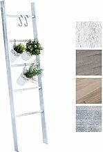 CLP Kleiderleiter MARIETTE, Dekoleiter, Holz Dekoregal, 5 Sprossen, Breite 50 cm, Höhe 145 cm Grau