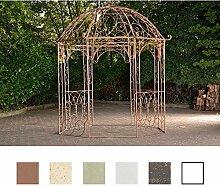 CLP Metall Garten-Pavillon LEILA rund Ø 229 cm, Höhe 313 cm, Eisen, schlichtes, stilvolles Design Antik Braun