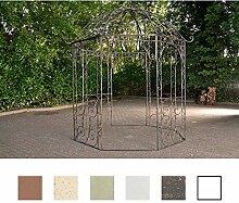 CLP Metall Garten-Pavillon LEILA rund Ø 229 cm, Höhe 313 cm, Eisen, schlichtes, stilvolles Design Bronze