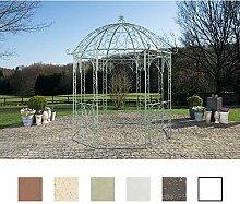 CLP Metall Garten-Pavillon LEILA rund Ø 229 cm, Höhe 313 cm, Eisen, schlichtes, stilvolles Design Antik Grün