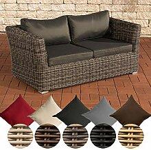 CLP Poly-Rattan 2er Sofa Mandal mit 2 Sitzplätzen
