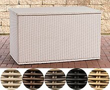 CLP Polyrattan Auflagenbox Comfy 5mm I Gartentruhe
