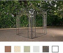 CLP Rosenpavillon MANJA aus Eisen mit stilvollen Verzierungen | Rankpavillion aus pulverbeschichtetem Eisen | Gartendekoration im Jugendsstil | In verschiedenen Farben erhältlich Bronze
