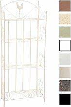 CLP Standregal MIA aus Eisen | Klappregal mit 4 Ablagefächern im Landhausstil | In verschiedenen Farben erhältlich Creme