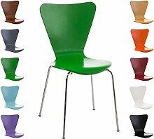 CLP Stapel-Stuhl CALISTO, Holzsitz, ergonomisch geformter Sitzfläche Grün