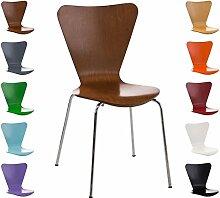 CLP Stapel-Stuhl CALISTO, Holzsitz, ergonomisch geformter Sitzfläche Braun