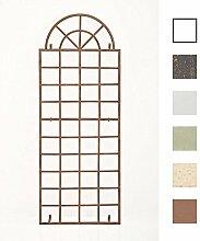 CLP Wand-Rankgitter VIVA mit Rahmen | Rankgitter aus Eisen zur Wandbefestigung | In verschiedenen Farben erhältlich Antik Braun