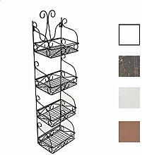 CLP Wandregal MARTA aus Eisen   Eisenregal mit 4 Regalböden   Stabiles Küchenregal im Landhausstil   In verschiedenen Farben erhältlich Schwarz