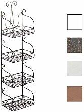 CLP Wandregal MARTA aus Eisen   Eisenregal mit 4 Regalböden   Stabiles Küchenregal im Landhausstil   In verschiedenen Farben erhältlich Bronze