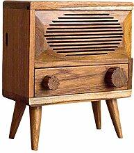 CLQya Retro Massivholz Radio Tissue Holder Box