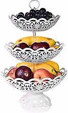 CLTech Etagere Obst, Etagere Obst 3 stöckig für