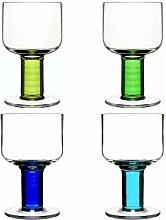 Club Universalglas, 4er Set, blau/grün