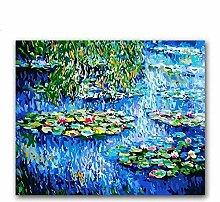 CLUBHN Wasserlilie Monet Berühmte Gemälde nach