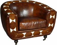 Clubsessel Banbury Vintage-Leder Kuhfell braun