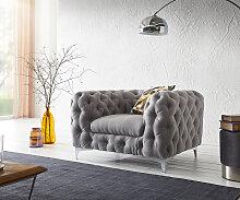 Clubsessel Corleone  120x97 cm Grau Loungesessel