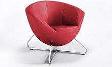 Clubsessel Designer Bar Hotel Polster Lounge modernes Kunstleder Sessel, ONLY, Farbe:Kirsche - 107-2074