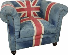 Clubsessel Polster-Sessel Lounge Union Jack UK