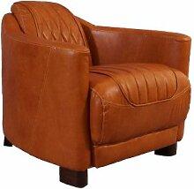 Clubsessel Rocket Delvin Columbia Brown Vintage-Leder Echtleder Sessel