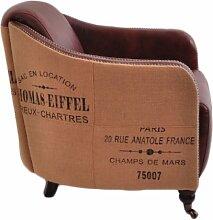 Clubsessel Winchester Vintage Leder Jute