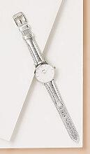 Cluse Darwin Uhr mit Lederarmband - Silver