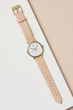 Cluse Flo Uhr mit Lederarmband - Pink