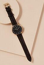 Cluse Samira Uhr mit Lederarmband - Black