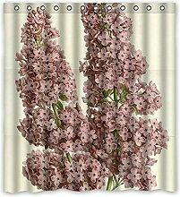 """Cluster von rosa Blumen Muster - Polyester Gewebe Wasserdichten Duschvorhang Badezimmer Dekorative 66""""""""x72"""""""" (167cm x 183cm)"""