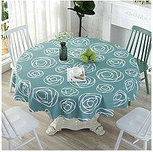 CLX Runde Tischdecke Gartentischdecke aus PVC -