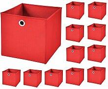 CM3 12 Stück Rot Faltbox 32 x 32 x 32 cm