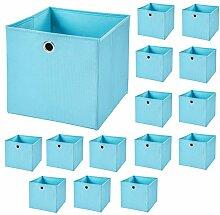 CM3 18 Stück Hellblau Faltbox 32 x 32 x 32 cm