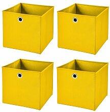 CM3 4 Stück Gelb Faltbox 32 x 32 x 32 cm
