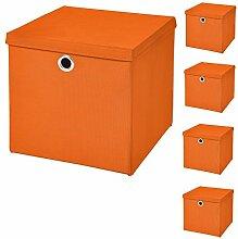 CM3 5 Stück Orange Faltbox 32 x 32 x 32 cm