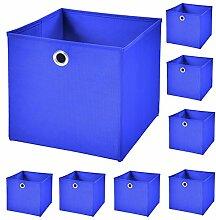 CM3 8 Stück Blau Faltbox 32 x 32 x 32 cm