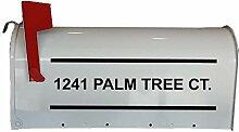 CMB3 Briefkasten-Aufkleber, Straßenname,