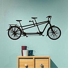 Cmdyz Tandem Fahrrad Wandaufkleber Neues Design