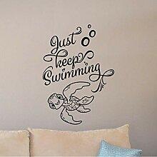 Cmhai Halten Sie Einfach Schwimmen Buchstaben