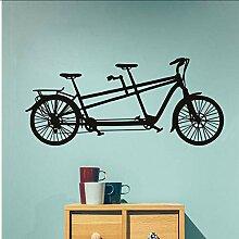 Cmhai Tandem Fahrrad Wandaufkleber Neues Design
