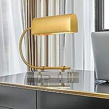 CMMT Lampe am Schreibtisch Goldene einfache