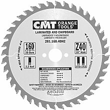 CMT Orange Tools 281.160.40h2Trapez–Zahn-Kreissägeblatt HW 160x 2.2/1.6x 20+ 2Z4010Grad TCG