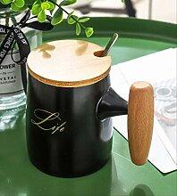 CMX-604 Holzgriff Keramik Tasse Kreative Student