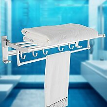 CNBBGJ Badezimmer Handtuchhalter aus Lochblech - bad accessoires Handtuchhalter Bad Raum Aluminium Nagel - kostenlos