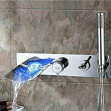 CNBBGJ Der Wasserfall ist mit einer Hand ausgestattet - Dusche Wasserhahn, heißes und kaltes Wasser Waschbecken Wasserhahn