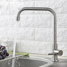 CNBBGJ Edelstahl kalte Küche Armatur Waschbecken Wasserhahn bleifreie Zeichnung Waschbecken Wasserhahn